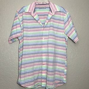 James Campbell Pastel Striped Button Down Size Med